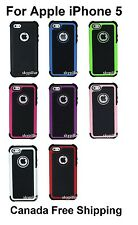 "4"" Apple iPhone 5 5G 5S 5GS Impact Hybrid ShockProof Hard Case Cover Canada"
