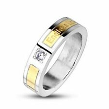 mens ladies Ring silver gold Zirconia Endless Love NEW JEWELLERY by ALLFORYOU