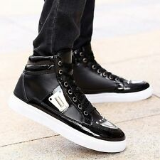 New Fashion Men's Metal Flat Casual Boots Sneakers Athletic High Top Shoes SY19