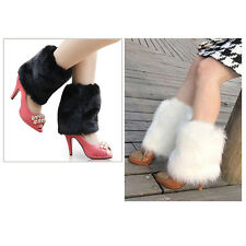 Fluffies Fluffy Furry Leg Warmers Boots Covers Rave Furries White WS