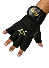 RFA Men's Weight Lifting Gloves Gym Workout Glove Leather Fitness Exercise-Black