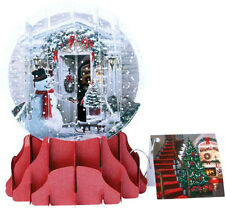 Christmas Greeting Card Pop-up 3-d Snow Globe Holiday Door Holiday New Year