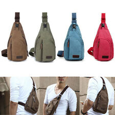 Hot Men's Canvas Military Messenger Shoulder Travel Hiking Fanny Bag Backpack