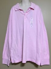 Old Navy L 10-12 XL 14 Shirt GIRLS  Pink Polo Long Sleeve NWT