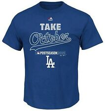Los Angeles Dodgers MLB Mens 2015 Playoffs Take October T Shirt Royal Big Sizes