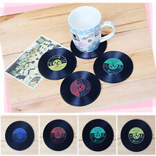 Retro Vinyl CD Album Record Drinks Coasters Bar Table Cup Glass Skid Mat Holder