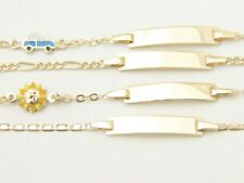 Real 14k Yellow Gold Baby bracelet ADJUSTABLE kids ID bracelet solid 14kt gold
