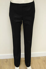 French Connection FCUK womens black wide leg fitted smart trousers size 12 443Z4