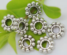 50/200/1000pcs Antique Silver Charms Spacer Beads Jewelry Beads Craft 6.5x2mm