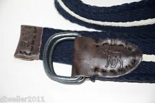 NEW Abercrombie & Fitch A&F Mens BELT Cotton Leather Letal Buckle Moose 30 31 32