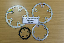 Chainrings 5 Hole 110 74 mm BCD PCD Chain Rings 26 36 42 46 49 Ring Chainring
