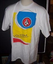 NEW Volcom Stone short sleeve t shirt white blue yellow men sz Large