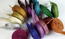 New 1 Pair Pearlized Glitter Shoelace Canvas Sneaker Flat Shoe Laces,14 Colors