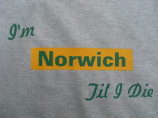 Norwich City T-Shirts & Sweat Shirts Inc 4XL & 5XL Personalised Birthday Gift