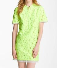$395 DIANE von FURSTENBERG NWT Warner Floral-Lace Dress Honeydew 6 8 GORGEOUS!!
