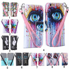 Fashion for Apple iPhone Luxury Skins Strap Stand Wallet PU Leather Case Cover