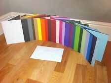 CARD BLANKS PRE SCORED DL U CHOOSE COLOUR AND QUANTITY WITH WHITE ENVELOPES