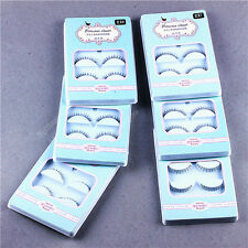 5 Pairs Cross False Eyelashes Makeup Natural Fake Long Thick Eye Lashes 05a