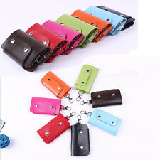 Hot Sale Unisex PU Leather Key Chain Accessory Pouch Bag Wallet Key Holder