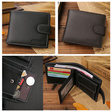 Men's Genuine Real Leather Bifold Wallet ID Credit Card Photo Holder Coins Purse