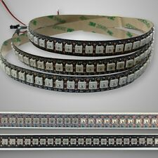 B/W PCB WS2812B 5050 RGB Dream Color 144LEDs/M Addressable Pixel LED Strip DC 5V