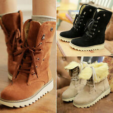 Fashion Women boots comfort shoes flats round toes Ankle Winter Warm boots #123