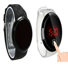 Luxurious Waterproof Mens Watch LED Touch Screen Date Silicone Wrist Black Watch