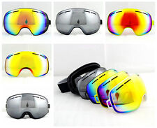 4 Color Dual Lens To Change Men Womens Antifog Mirror Snow Snowboard Ski Goggles