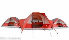 NEW! 10 Person Cabin Tent 3 Connecting Room Family Hiking Camping Outdoors XL