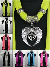 New ladies Zinc Alloy Angel wings Jewelry Necklace Pendant Scarf