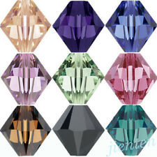 New 50/100Pcs Faceted Glass Crystal Loose Bicone Spacer Charms Bead 6mm