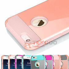 "PC Shockproof Hybrid Rubber Hard Cover Case For iPhone 6 6s 4.5"" / 5.5"" Plus +"
