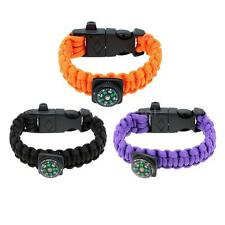 Outdoor Travel Paracord Bracelet Emergency Quick Release Survival Bracelet W72Z