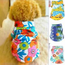 Small Pet Dog Clothes Hawaiian Summer T-Shirt Apparel Beachwear XS S M L XL M16
