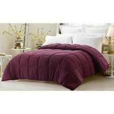 Maroon Oversized Goose Down Alternative Year Round Comforter QUEEN and KING