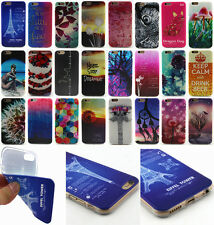 New Colorful Painted Soft TPU Silicone Rubber Back Case Cover For Apple iPhone