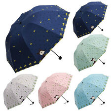 Lady Fashion Princess Cartoon Lovely Dome Parasol Sun/Rain Folding Umbrella NEW