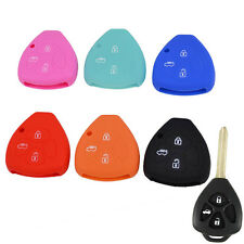 3 BUTTON SILICONE REMOTE KEY COVER FOB FIT FOR TOYOTA CAMRY COROLLA CROWN REIZ