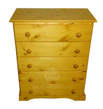 HANDMADE SOLID PINE CHESHUNT CHEST OF DRAWERS - FULLY ASSEMBLED STAIN/LACQUERED