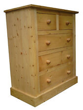 HANDMADE SOLID PINE KNIGHTSBRIDGE CHEST OF DRAWERS FULLY ASSEMBLED STAIN/LACQUER