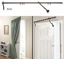 "DOOR CURTAIN METAL POLE RISE AND SWING PORTIERE ROD 42""WIDE  FREE POSTAGE"