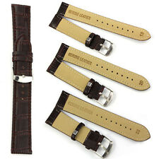 1PC 18~22mm NEW Mens Genuine Leather Strap Steel Buckle Wrist Watch Band Soft