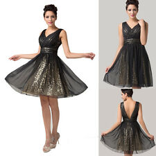 Sequins Summer Short Formal Bridesmaids Cocktail Prom Gown Evening Party Dresses