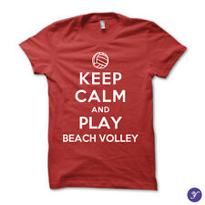 Keep Calm and Play Beach Volley - volley, volleyball, beach, match, ball, sports
