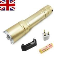 Mini 1200LM Zoomable CREE Q5 LED Focus Adjust Flashlight Torch 18650 Lamp inUK