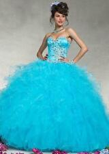 New Elegant Ball Evening Formal Party Prom Quinceanera Dress Bridal Wedding Gown
