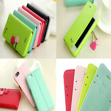 Cherry PU Leather Stand Flip Wallet Pouch Case Cover For Apple Iphone 4/ 4S Hot