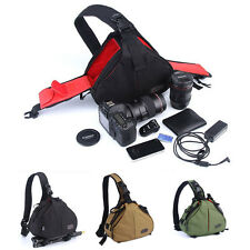DSLR SLR Digital Sling Camera Shoulder Bag Case Backpack for Canon Nikon Sony