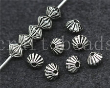 150/800pcs Antique Silver prismatic Charm Spacer Beads Jewelry Making DIY 5x4mm