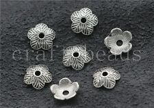 100/500pcs Tibetan Silver Flower Bead Caps Charms Beads Cap Jewelry DIY 9mm